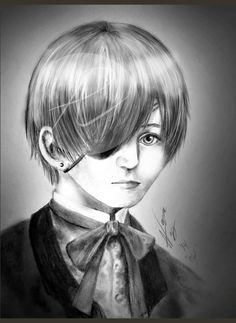 Ciel Phantomhive 2nd semi-realistic Portrait (Black Butler)