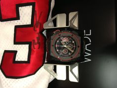 PART OF OUR COLLECTION- Just got in Hublot King Power Limited Edition Dwayne Wade watch with signed jersey!