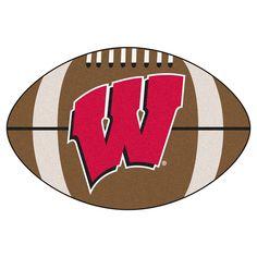 """Floor Mat 1'2""""X2'2"""" Fanmats Wisconsin Badgers Team Color"""