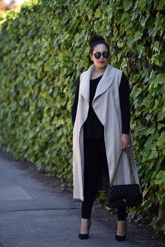 nice Sleeveless Coat by http://www.globalfashionista.xyz/plus-size-fashion/sleeveless-coat/