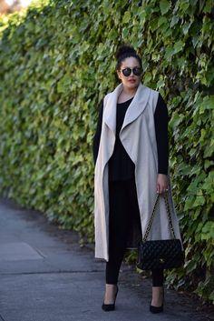 nice Sleeveless Coat by http://www.globalfashionista.xyz/plus-size-fashion/sleeveless-coat/