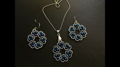 Stylish beaded jewelry set. Pendant & Earrings
