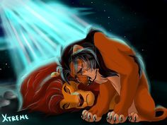 The Lion King - Mufasa and Scar  by ~Diego32Tiger ; Scar : Brother ... What have I done? ..