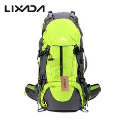 7beeadd422f26 Lixada 50L Outdoor Climbing Bags Knapsack Sport Camping Backpack Nylon  Climbing Backpack Capacity Travel Bag with