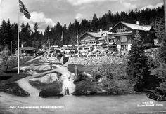 Oslo Frognerseteren Hovedrestaurant 1940-tallet Utg Harstad forlag