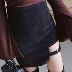 Buy ALIN STYLE Cutout Mini Skirt | YesStyle