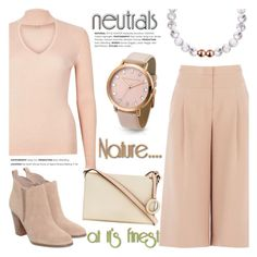 """""""Cool Neutrals"""" by christianpaul ❤ liked on Polyvore featuring BCBGMAXAZRIA, River Island, Michael Kors, Oroton, neutrals, contestentry and christianpaulwatches"""