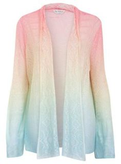Ombre Stitch Cardi - Jumpers & Cardigans - Clothing - Miss Selfridge