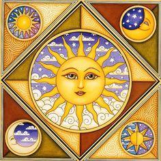 SUN AND MOON, DECOUPAGE PRINTABLE