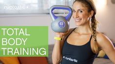 Total Body Training With A Kettle Bell - Do you have a kettlebell and looking for some fresh new moves? Or maybe you have seen a kettlebell at the gym and aren't sure how to use one? Grab a kettlebell and check out this video for a great total body workout you can even do at home.
