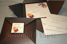Red, Orange, Brown, Wedding, Invitations, Fall, Invitation