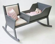 Great idea. Bassinet thingy with rocking chair attached. @Tiffany Bogan Woodus