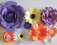 Fleur papier toile de fond, centre de table mariage, fleurs en papier géantes