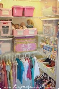 Organized kids closet {from How I get my kids to clean their room via LivingWellSpendingLess.com} #kids #organizing #cleaning