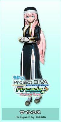 Megurine Luka: Silence Vocaloid, Hatsune Miku Outfits, Kaito, Hologram Projection, Hatsune Miku Project Diva, Mikuo, Bright Blue Eyes, Diva Design, Vestidos