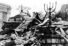 The ruins of the Great Synagogue on Tłomackie Street in Warsaw, 16 May 1943. On the 16th of May, 1943, the Germans destroyed this synagogue as a sign of the final suppression of the uprising. General Jürgen Stroop, commander of the SS unit which suppressed the uprising, presided over the demolition. The ruins of the synagogue became one of the symbols of the destruction of Warsaw Jewry.