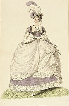 1790's court dress I love the layers of this dress.  The corset makes the female's body in a beautiful shape. There is a big contrast between the waist and the large dress.