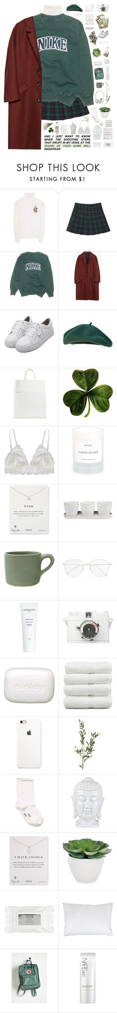 """""""goblin's wife."""" by tzingfung ❤ liked on Polyvore featuring Gucci, NIKE, Zara, WithChic, Maison Margiela, Humble Chic, Conair, Byredo, Dogeared and Threshold"""