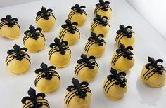 Fleur de Lis Italian Creme Cake Balls, Cake by Bridges   Flickr - Photo Sharing!
