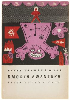 "Vintage Polish book cover from1960, Adam Kilian, ""Dragon's Battle""."