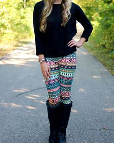 I love the leggings but I really need the shirt because somehow I don't own a simple black shirt...