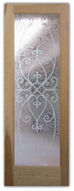Corazones Gluechipped Glass Front Entry Doors Interior Glass Door Etched Carved Ironwork, by Sans Soucie Art Glass. Glass Door, Wood Doors, Glass Front Door, Entry Door Colors, Glass Decor, Door Glass Design, Glass Cabinet Doors, Double Glass Doors, Glass Design