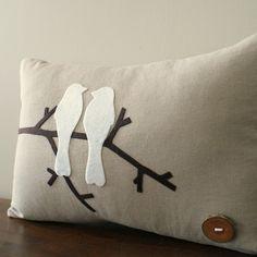 felt bird pillows- love these