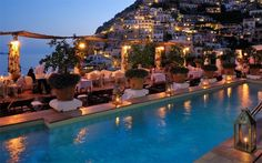 Le Sirenuse, Positano, Italy - 15+1 Notable Pools Overlooking The World.  Pinning for my friends who will be here soon!