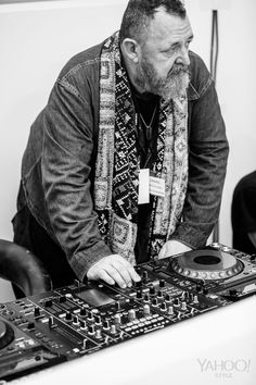 Michel Gaubert testing the turntables at Chanel. Photography by Cyrille George Jerusalmi for Yahoo Style.