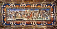 Villa Imperiale Pesaro. Sala del giuramento.  Affreschi di Gerolamo Genga.