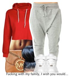 I know what I know and Mann that's all I know by trinityannetrinity on Polyvore featuring polyvore fashion style Boohoo MICHAEL Michael Kors NIKE