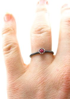 Lab Grown Padparadscha Sapphire ring - alternative engagement ring by Sharon Z Jewelry