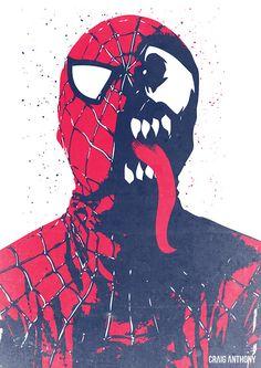 mitad hombre araña mitad venom