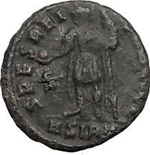 JULIAN II as Caesar in military dress w globe 355AD Ancient Roman Coin i56191