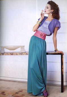 1986 - Yves Saint Laurent Rive Gauche adv - Violetta Sanchez by Gian Paolo Barbieri .jpg