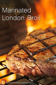 Marinated London Broil - Nothing like the smell and taste of London Broil on the grill! Yummo!