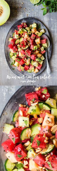 #watermelon #salad #asian #vegan #glutenfree #peanut #healthy #summer