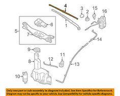 Hyundai 09-11 Genesis-wiper Blade U889001f20 #car #truck #parts #exterior #windshield #wiper #blades #u889001f20
