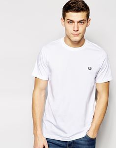 Fred+Perry+T-Shirt+with+Crew+Neck