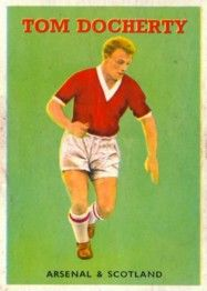 Tommy Docherty of Arsenal & Scotland in 1957.