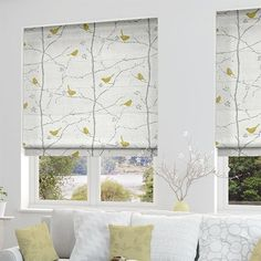 Sanderson Home | Dawn Chorus Slate | Cute Yellow Bird Design
