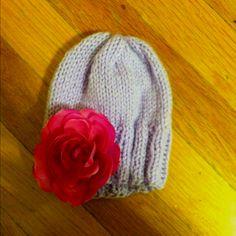 Stylish flower baby knit hat