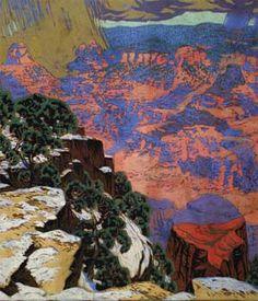 Gustave Baumann / Grand Canyon / 1927 / gouache over graphite on brown wove paper