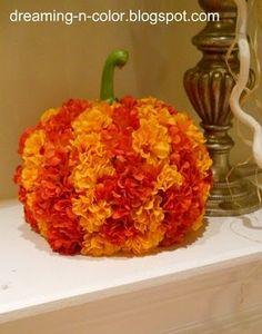 A flower pumpkin DIY