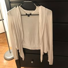 I just discovered this while shopping on Poshmark: White Cardigan. Check it out!  Size: S