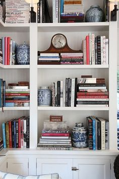 ciao! newport beach: bookcase styling Clock