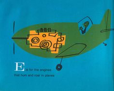 Love the engine highlights.    From Space Alphabet (1964), by Irene Zacks. Pictures by Peter P. Plasencia.
