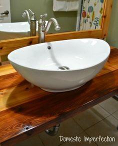 Large White Vessel Sink