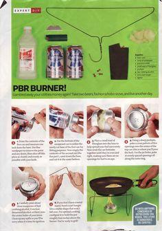 The PBR Burner | Camping hacks: survival life hacks at survivallife.com #camping #outdoorsurvivalskills