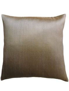 Pillow Thai Silk  Two Ply Solid Colors Mushroom by IMPERIO Vida